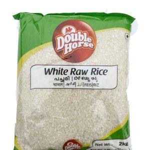 Double Horse White Raw Rice (Pachari) – 2kg