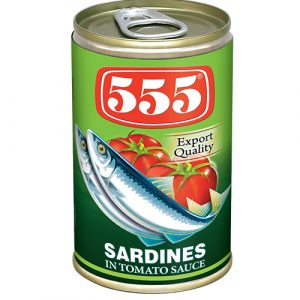 555 Sardines In Chilli And Tomato Sauce – 155g