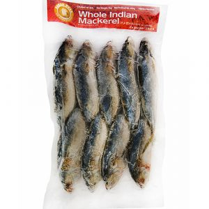 ASEAN SEAS Frozen Cleaned  Whole Indian Mackerel 10% Gla – 900g