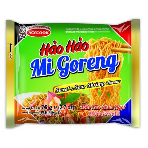 Hao Hao Instant Noodles Fried Sweet & Sour Shrimp Flavour – 76g