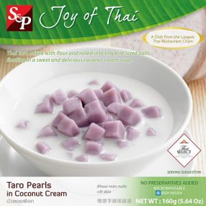 S&P FROZEN Taro Pearls In Coconut Cream (Bua Loey Puerk ) – 160g