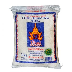 THAI CROWN Thai Jasmine Milagrosa Fragrant Rice – 5 Kg