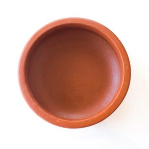 Kerala Traditional Hand Made Clay Fish Curry Pot (22cm -diameter)
